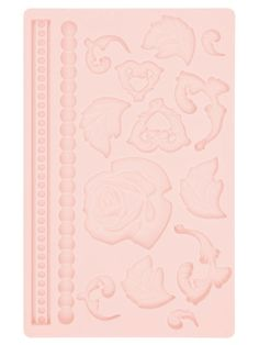 Silikonform für Fondant / Marzipan - Rosen Blätter