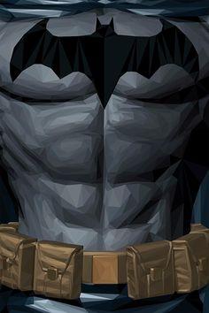 Batman Geometric Super Heroes by Simon Delart