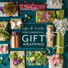 I feel there are three steps to gorgeous gift wrapping. Wrap, tie and top! Here in this mini series, I share all of my tips and tricks for each of these steps in bite size videos so that you can feel confident with the basics and add your own creativity to your gift wrapping this holiday season and all year round. Felt Crafts Kids, Easy Paper Crafts, Homemade Gifts, Diy Gifts, Paper Flower Tutorial, Pretty Packaging, Wedding Crafts, Paper Roses, Gift Wrapping