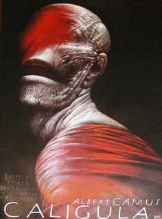 Polish Poster - Caligula [Camus] c.1990 artist: Walkuski, Wieslaw