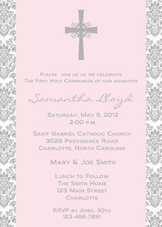 First Holy Communion Invitation -- religious invitation. $10.00, via Etsy.