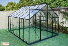 Serre De Jardin En Aluminium Et Verre Trempe Prima 10 92 M Serre Jardin Serre Et Jardins