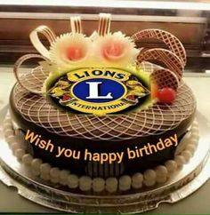 Wedding Cake Rustic, Wedding Cakes, Lions Clubs International, Wish You Happy Birthday, Lion Poster, Birthday Wishes, Special Occasion, Anniversary, Quotes