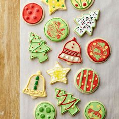 Turn a simple sugar cookie into a masterpiece this Christmas: http://www.bhg.com/christmas/cookies/christmas-sugar-cookies/?socsrc=bhgpin101214christmassugarcookies&page=2