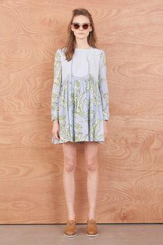 Greenhouse Contrast Dress - Dresses | Karen Walker