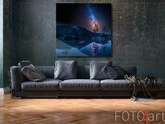 Foto op plexiglas De Melkweg boven de Alpen