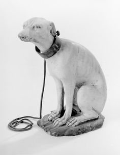 Possibly by Saverio Vassalo. Seated hound, 18th–19th century. The Metropolitan Museum of Art, New York. Gift of Loretta Hines Howard, 1977 (1977.271.4) #dogs