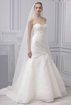 Brides: Monique Lhuillier - Spring 2013 | Bridal Runway Shows | Wedding Dresses and Style | Brides.com