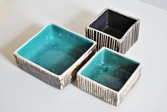 Vintage instant collection square bowls West by MoodAndLight