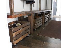 Beautiful Rustic Mountain Modern Mudroom Reveal
