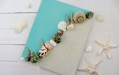 Sand and Shell Canvas Art - DIY canvas crafts Sand and Shell Canvas Art Seashell Art, Seashell Crafts, Beach Crafts, Diy Crafts, Sand Art Crafts, Sharpie Crafts, Diy Canvas Art, Canvas Crafts, Beach Canvas Art
