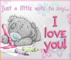 I love you! ♡ Tatty Teddy  tjn