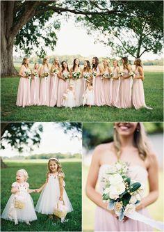 Pink bridesmaids!