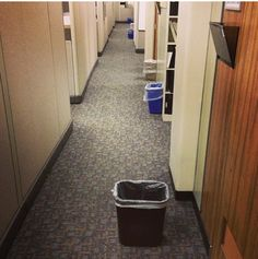 The Worst Collection of First World Problems Ever Assembled - #8 The Office Cleaning Person Doesnt Put The Trash Cans Back Where They Were via Buzzfeed