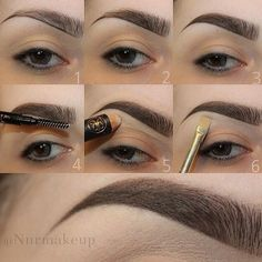 Brow contouring #makeup #tutorial #evatornadoblog
