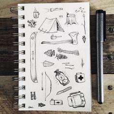 steelbison: Quick little brainstorm session. #art #copicart