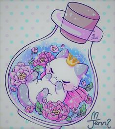 Sweet Dreams Little Princess magical floral Chat Kawaii, Kawaii 365, Arte Do Kawaii, Kawaii Chibi, Kawaii Cute, Kawaii Anime, Kawaii Girl, Cute Kawaii Animals, Cute Animal Drawings Kawaii