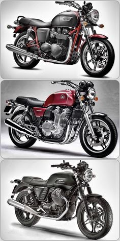 What do a Triumph Bonneville, a Honda CB1100 and a Moto Guzzi V7 II Stone have in common? I want them all ! Which one should I get ?