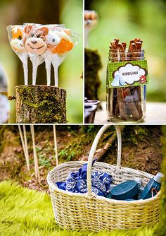 Boys Camping Birthday {Party in the Woods!} Camp Parti, Camp Birthday, 2Nd Birthday Party Camping, Birthday Theme, Birthday Boys, Birthday Parties, Camping Birthday, Parti Favor