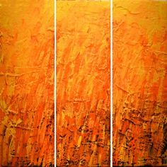 Items similar to EXTRA LARGE WALL sculpture art triptych 3 panel wall art orange yellow canvas original paintings on canvas abstract wall kunst 48 x on Etsy Abstract Canvas, Canvas Art, Wall Canvas, 3 Panel Wall Art, Triptych Wall Art, Tree Of Life Art, Hand Painting Art, Painting Canvas, Fire Painting