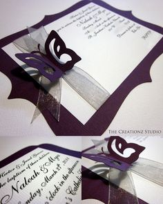 In January I was contacted by Janel who was looking for some baptism invites for her little ones and this is what I came up with. Baptism Invitations, Diy Invitations, Invitation Cards, Invitation Ideas, Butterfly Invitations, Baby Girl Baptism, Baptism Party, Baptism Ideas, Baby Christening