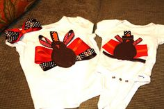 Another Stay Home Mommy Blog: Ribbon Turkey Shirts