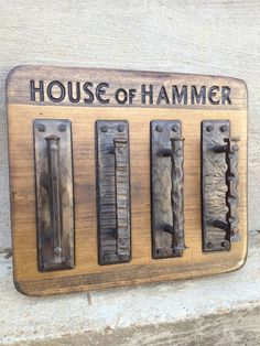 Hand forged door pulls by HouseofHammer on Etsy, $85.00