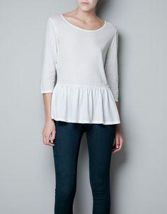 CASUAL PEPLUM T-SHIRT - T-shirts - Woman - ZARA