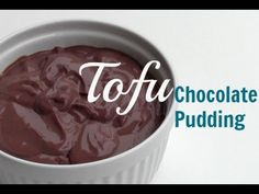 Vegan Tofu Chocolate Pudding