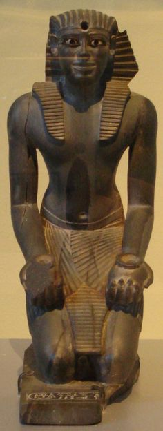 Kneeling statue of Pepi I Meryre. Greywacke, alabaster, obsidian and copper. Old Kingdom, Dynasty VI, c. Ancient Egyptian Art, Ancient History, Visit Egypt, Greek Art, Archaeology, Black History, Mythology, Modern Egypt, New York
