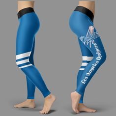 Through Great Logo Spread Body Striped Circle Los Angeles Dodgers Legg – Best Funny Store