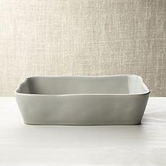 "Crate&Barrel: Marin Grey 12""x8.5"" Baking Dish"