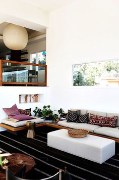 Bohemian chic interior design home living room decor