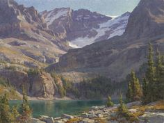"Clyde Aspevig, painter - ""East Rosebud Lake"" - Oil on Canvas - 30 x 40 Inches"