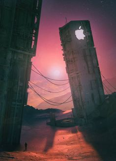 technology art - The Digital Distopias of Mike Beeple Winkleman Post Apocalyptic Art, Apocalypse Art, Apple Wallpaper Iphone, Apple Iphone, Galaxy Wallpaper, Cool Wallpapers For Phones, Arte Pop, Cultura Pop, Sci Fi Art