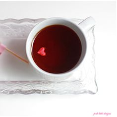 "A simple Valentine's DIY featuring rock sugar swizzle sticks and a festive tea blend. ""U are my Rock."""