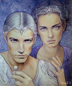 Doriath by kimberly80.deviantart.com on @deviantART. Thingol and Melian! :D I think Thingol is holding Nimphellos. :)