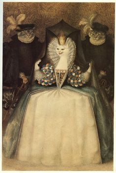 Gennady Spirin. Illustration from 'The White Cat""