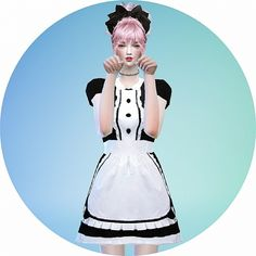 Maid onepiece outfit at Marigold via Sims 4 Updates