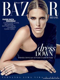 Batom nude e pele matte: Fernanda Lima é capa da Harper's Bazaar Brasil com maquiagem de inverno