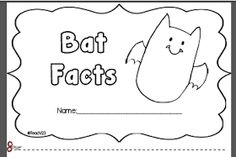 Fun with Bats mini book and a lot of FREE things about bats!
