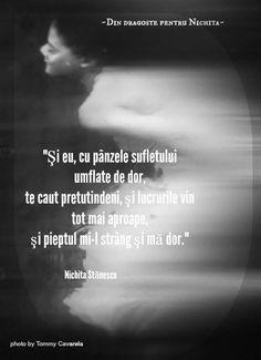 """Toate citatele sunt luate de pe pagina """"Din dragoste pentru Nichita"""" de pe Facebook. Let Me Down, Let It Be, Beautiful Soul, Deep Thoughts, Simile, Favorite Quotes, Affirmations, Literature, Lyrics"""