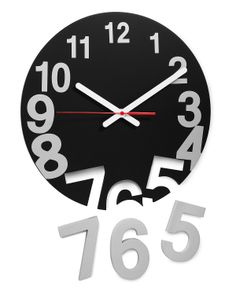 NUMBERS POP OUT CLOCK | Black Modern Wall Clock, Butterfly Clock | UncommonGoods