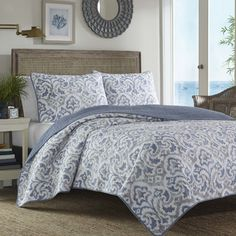 Shop Joss & Main for your 3-Piece Liam Reversible Quilt Set. Features:Set includes 1 quilt and 2 shamStyle: ContemporaryFabric detail: JacquardMaterial: Polyester covers and fillCare instructions: Machine wash cold on gentle cycleOverall Product Weight: 4 lbsReversibleContemporary patternDo not ...