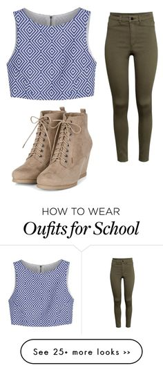 """Classy School"" by cutiepie40166 on Polyvore featuring moda, Alice + Olivia y H&M"