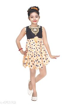 Checkout this latest Frocks & Dresses Product Name: *Doodle Fancy Imported Lycra Kid's Girl's Frocks* Sleeve Length: Sleeveless Pattern: Printed Multipack: Single Sizes: 2-3 Years (Bust Size: 20 in)  3-4 Years (Bust Size: 22 in)  Easy Returns Available In Case Of Any Issue   Catalog Rating: ★3.8 (216)  Catalog Name: Tinkle Comfy Girls Frocks CatalogID_693527 C62-SC1141 Code: 012-4763162-234