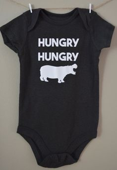 13df0c6e9 Hungry Hungry Hippo baby onesie Cute funny by EclecticBadger #babyonesie Baby  Shirts, Baby Onesie