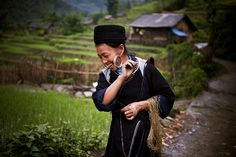A Hmong hill tribe woman at work in Sin Chai, Viet Nam. Photo ID 491914. 23/06/2011. Sin Chai, Viet Nam. UN Photo/Kibae Park.