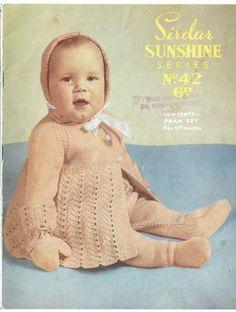 Sirdar sunshine 42 baby pram suit vintage knitting pattern | Knitting and Crochet patterns