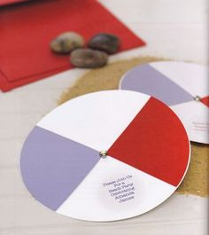 How to make a spinning beach ball invitation card from the book One-of-a-Kind Handmade Weddings #weddinginvitations